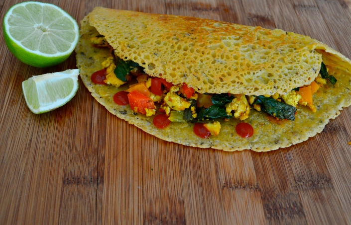 Chickpea Crepes. Vegan. Gluten free. Yum!