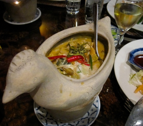 thai curry delivered via chicken at Thai Orchid in Maidenhead